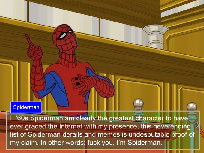 Spiderman - Ace Attorney