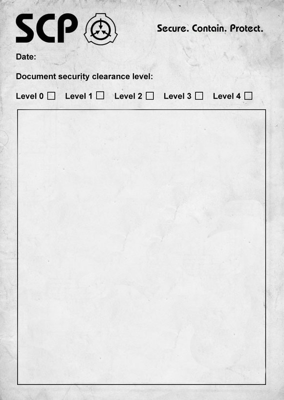 SCP Document (Blank)