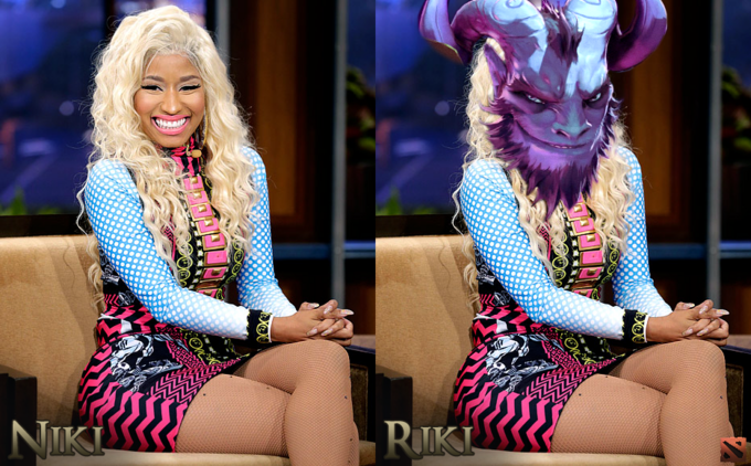 Nicki Minaj Plays Dota 2