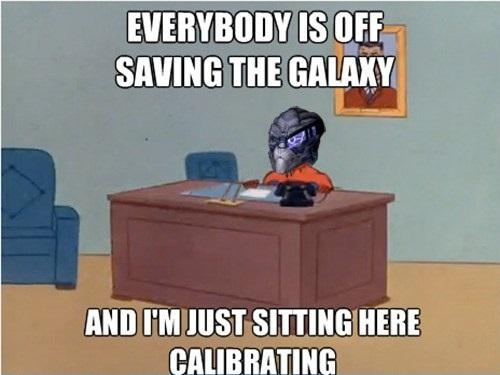 I'm just sitting here calibrating