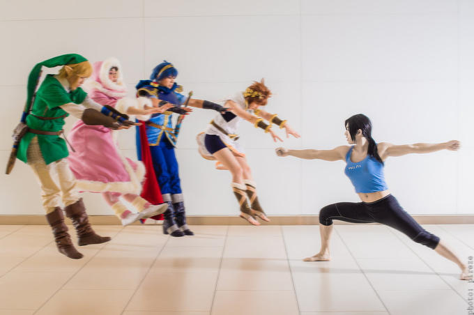 Wii Fit Trainer joins in the fad.