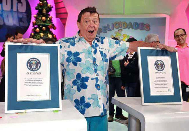 Chabelo's two Guiness records