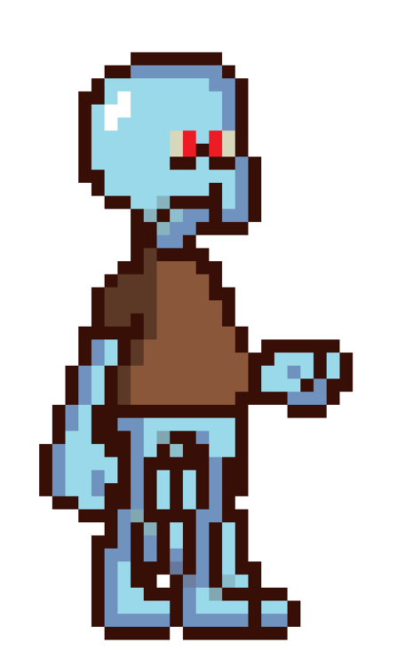 A nice Squidward to play the clarinet
