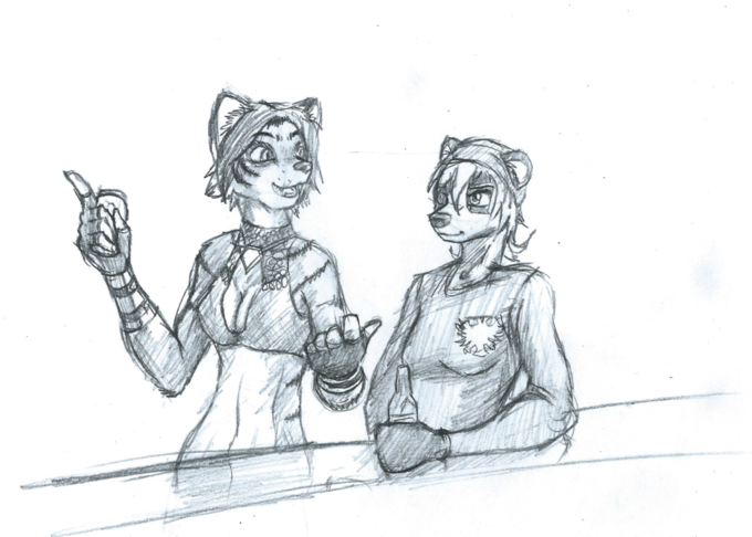 So a tigress and a badger walk into a bar...