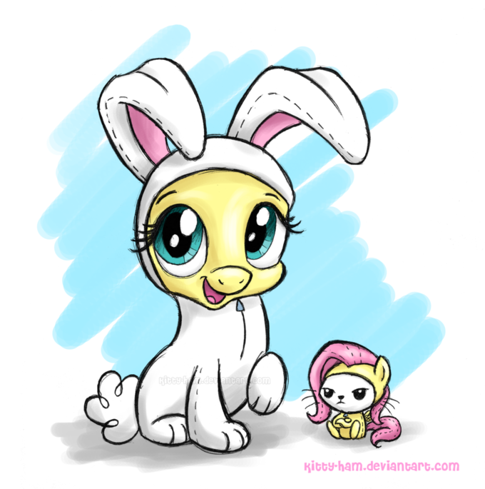 Flutterbunny and Angelshy