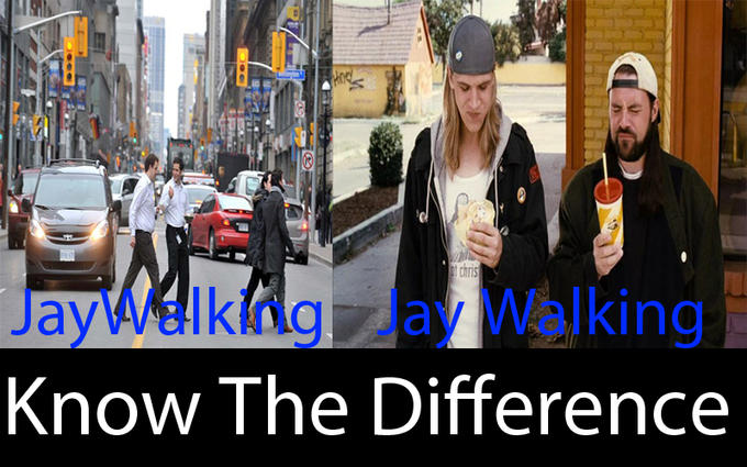Jaywalking vs Jay walking