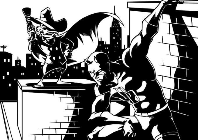 Darkwing Duck meets Daredevil by eisu