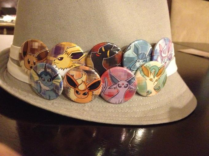 Eevee's on my Fedora hat