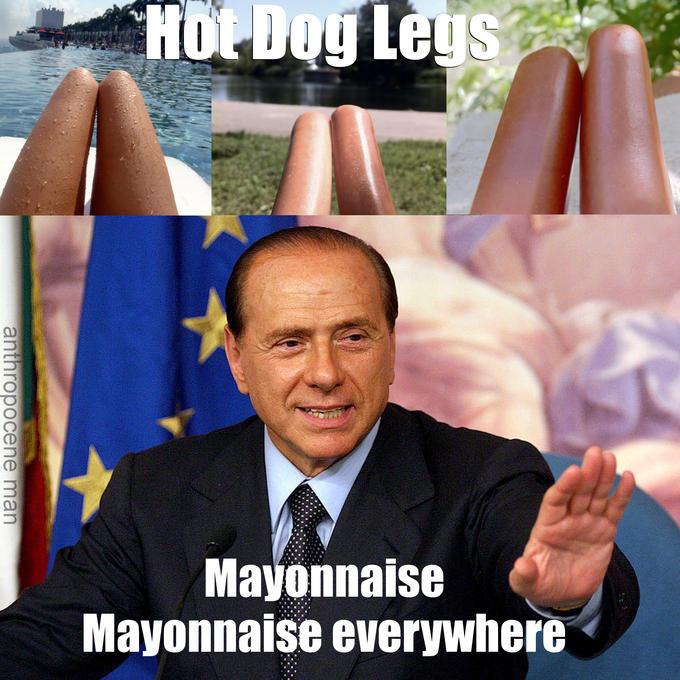 Hot Dog Legs - Berlusconi edition