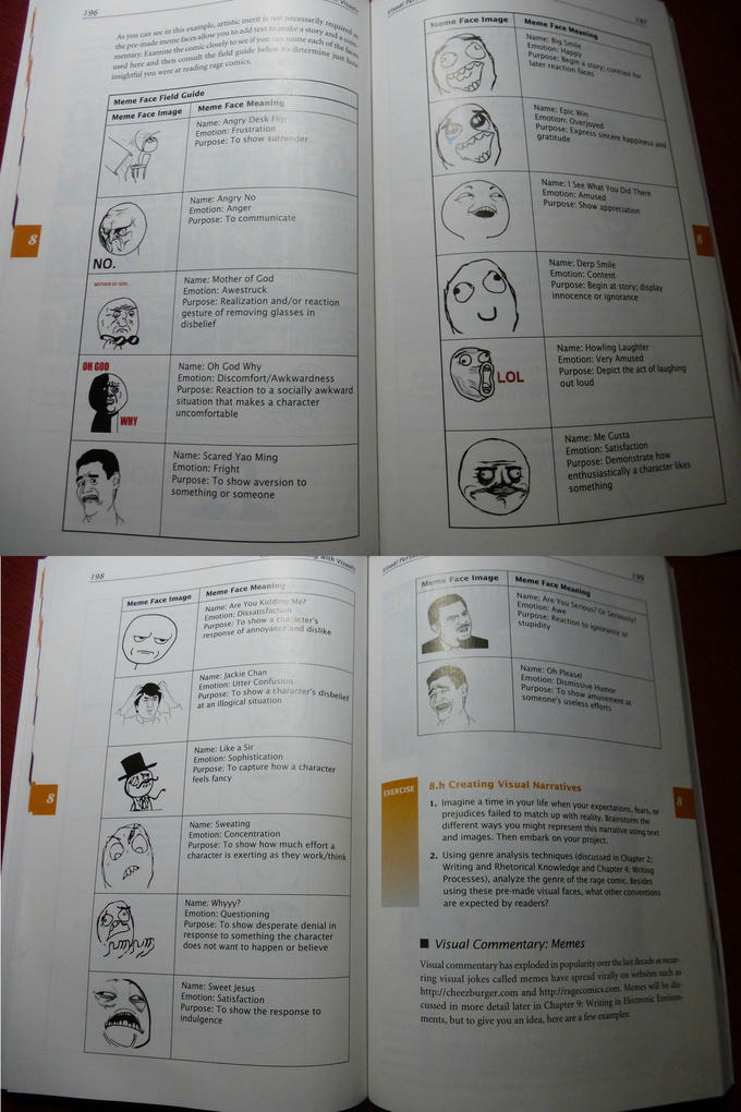 """Meme Face Field Guide"""