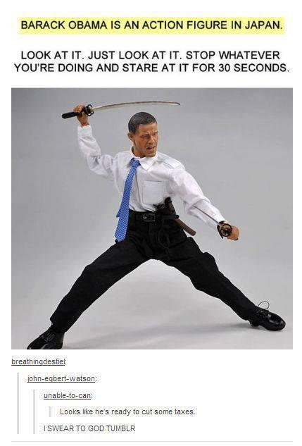 Obama Action Figure in Japan