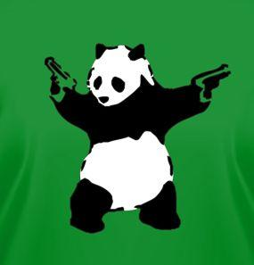 This panda is packing heat.