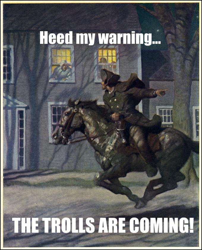 Paul Revere Warning the Colonials