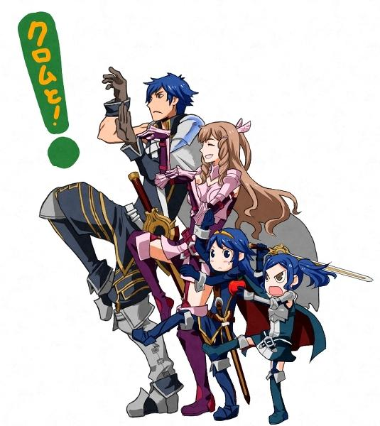 Chrom, Sumia, Lucina, and Cynthia Thriller