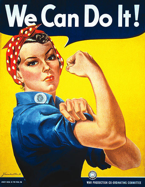Iconic photo from World War two of Rosie the Riveter