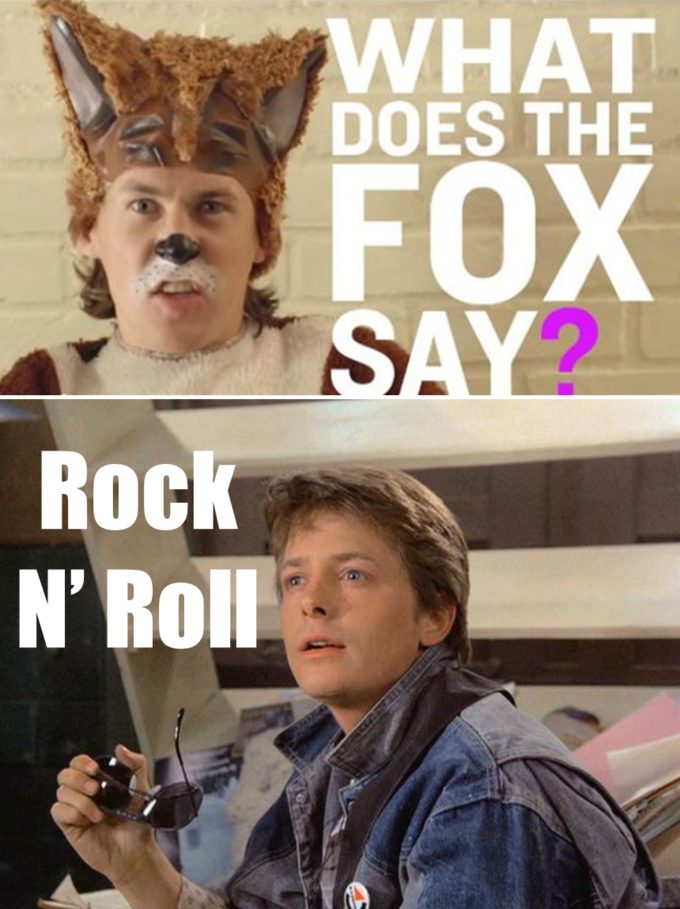 What does the (Michael J.) Fox say?