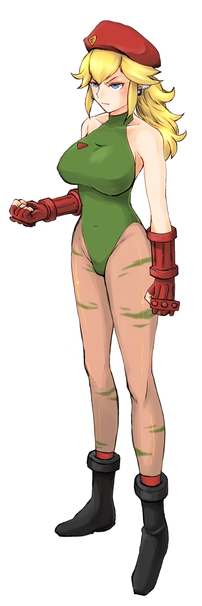 Princess Peach as Cammy White