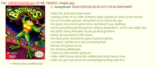 Anon doesn't know about Battletoads