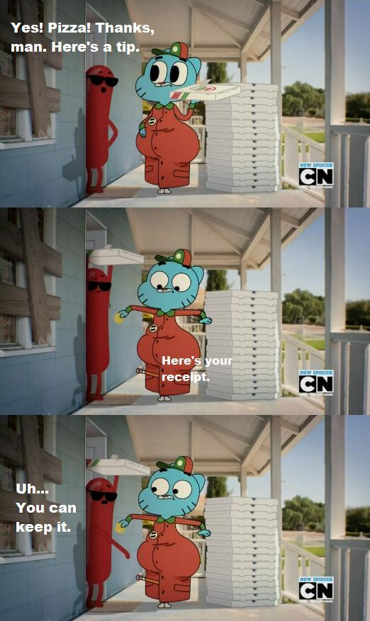 With Regular Show and Adventure Time airing on the same channel, how is it Gumball that's fully testing the censor's limits?