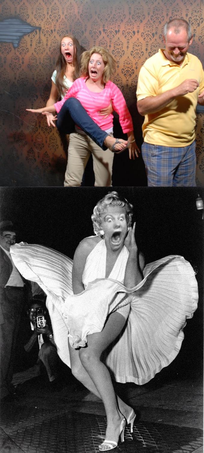 Faceswap scared Marilyn