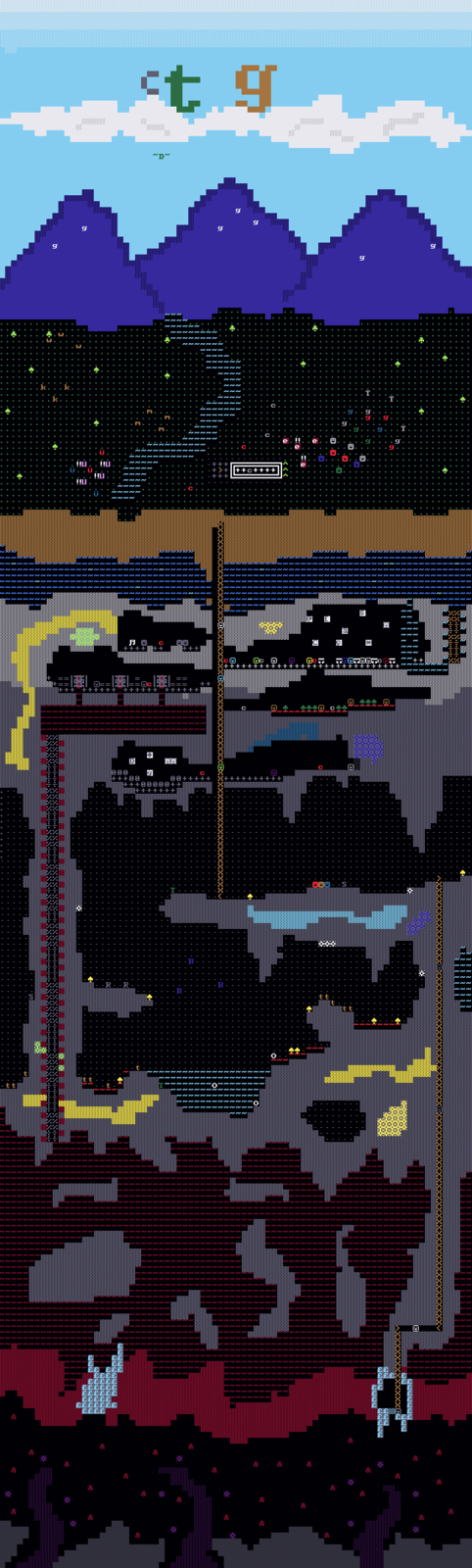 2D Rendition of Dwarf Fortress