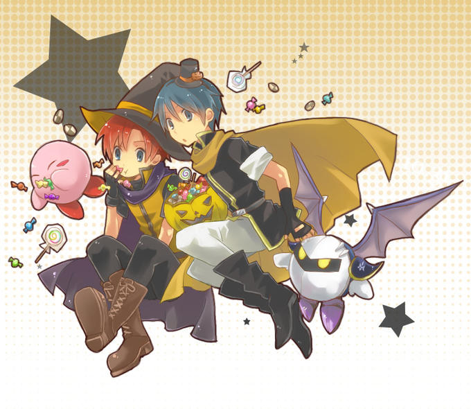 Kirby, Roy, Marth and Meta Knight