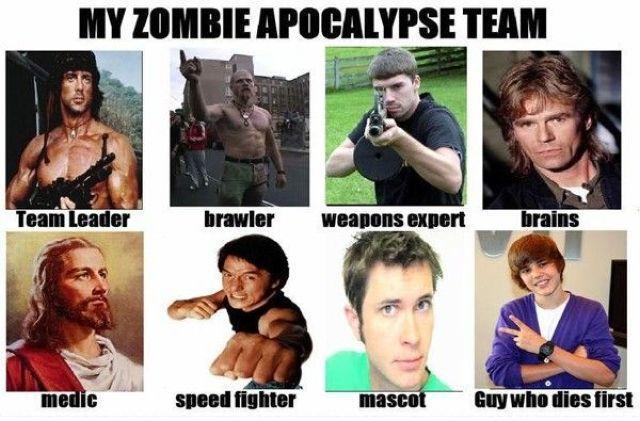 Zombie Apocalypse Meme Funny : My zombie apocalypse team know your meme