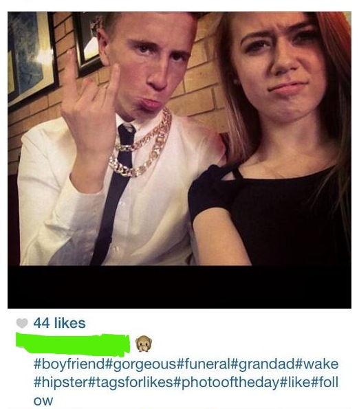 Funeral Selfie? Fuck This Generation.
