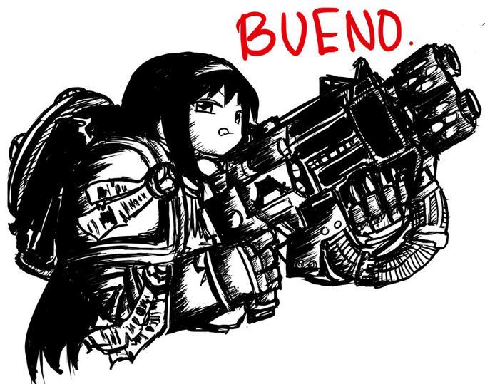 Homura Akemi (Puella Magi) Space marine (Warhammer 40K) Bueno