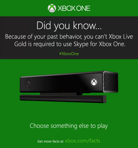 you can't xbox live gold is required