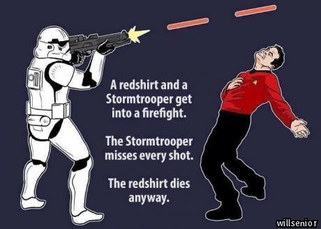 Stormtrooper Vs. Redshirt