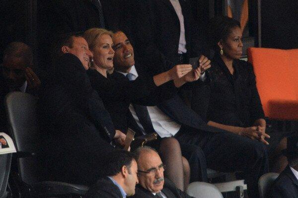David Cameron, Helle Thorning-Schmidt & Barck Obama Selfie