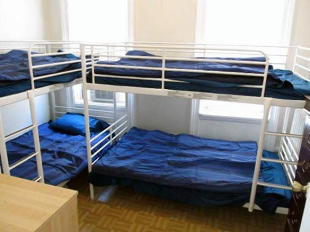 """Upper West Side, Manhattan. $649.00 """"One bed in shared room with 3 other girls. There are bunk beds."""""""