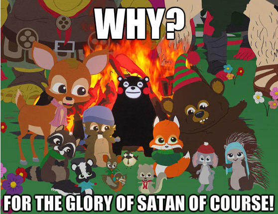 Kumamon meets South Park Christmas critters (made by Detergent ...