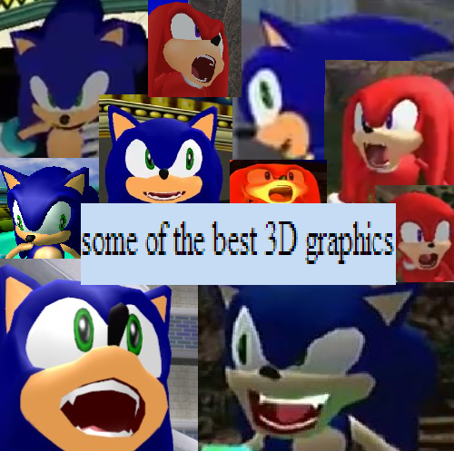 Sonic Adventure had some crazy faces