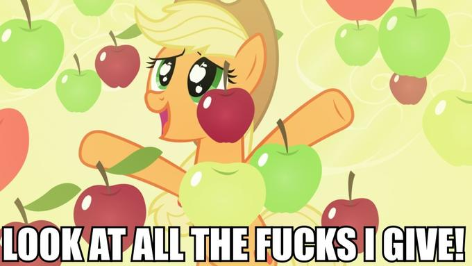 Applejack doesn't give a fuck