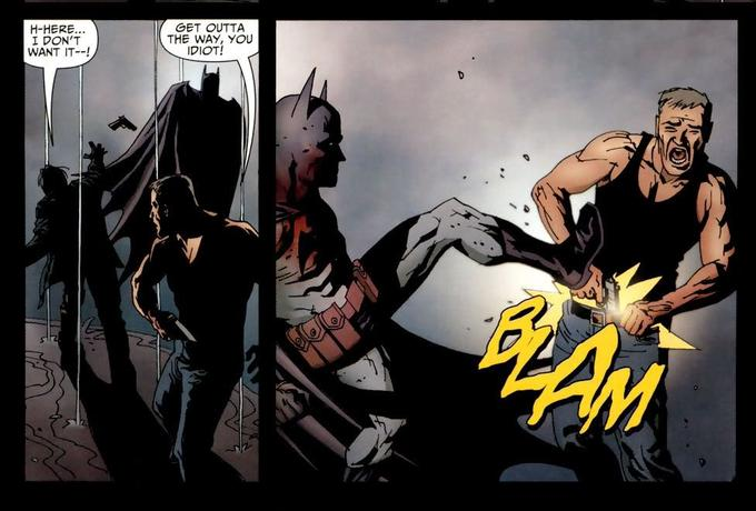 Moral: Don't fuck with Batman... or you will not fuck AT ALL.