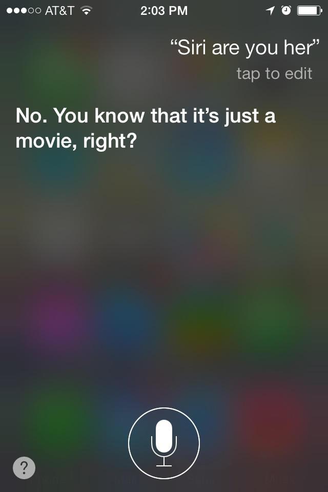 Siri Hates Her