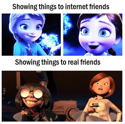 Internet socializing in a nutshell