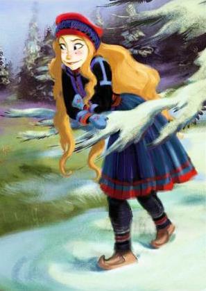 Frozen - original Disney sketch of Sámi character who was dropped