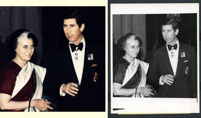 prince Charles and Indira Gandhi 1980