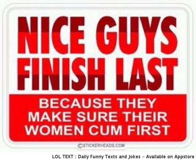 Why Nice Guys Finish Last