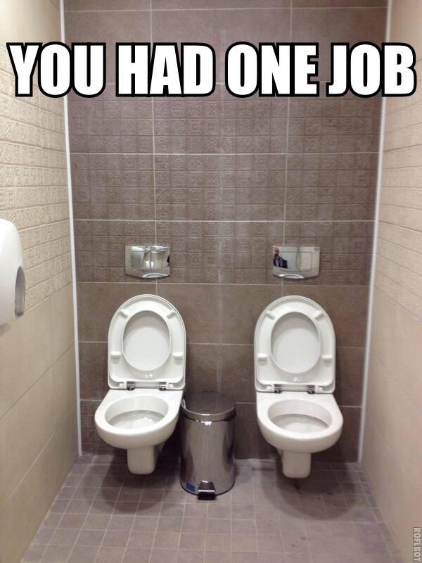 You Had One Toilet... err Job