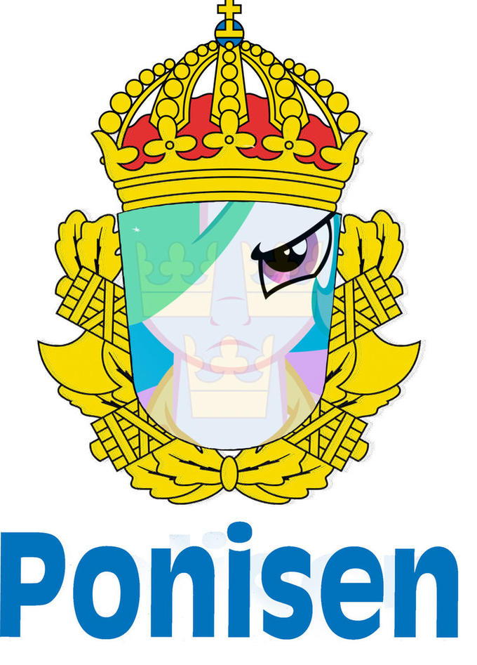this image is a swedish police logo ponified