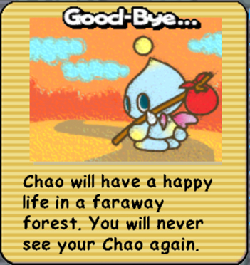 I could never release my chao thanks to this...