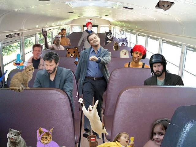 Memes on a bus