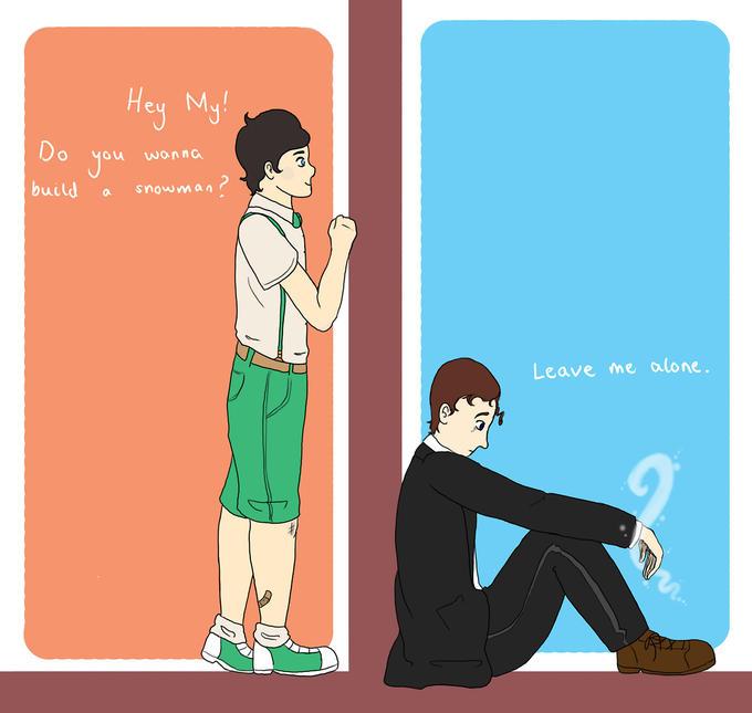 Mycroft and Sherlock Frozen