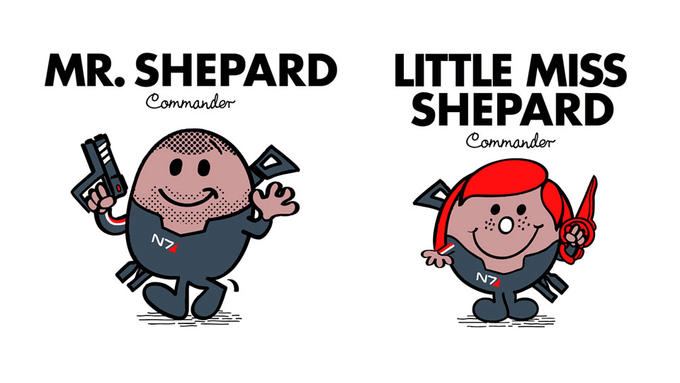 Mr. Shepard and Little Miss Shepard Will Save the Galaxy With Sweetness