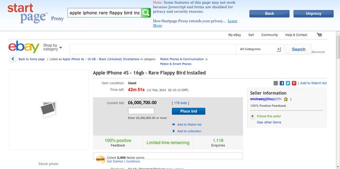 6 Million Pound Crappy Bird iPhone