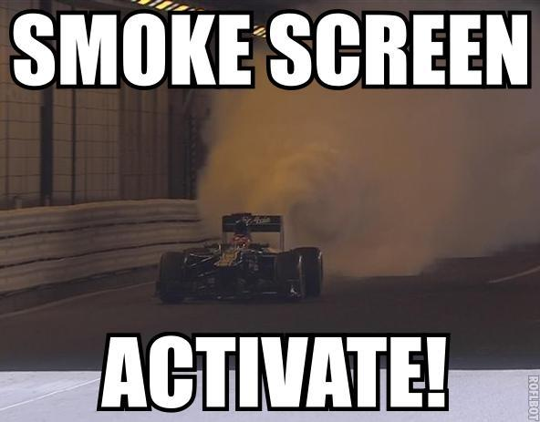 Image result for smokescreen meme